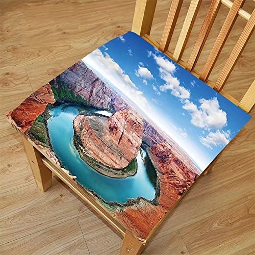 Nalahome Set of 2 Waterproof Cozy Seat Protector Cushion Room Decorations Collection Horse Shoe Bend North Rim Grand Canyon Page Arizona USA Famous Tourist Attractions Sandy B Printing Size 18x18inch