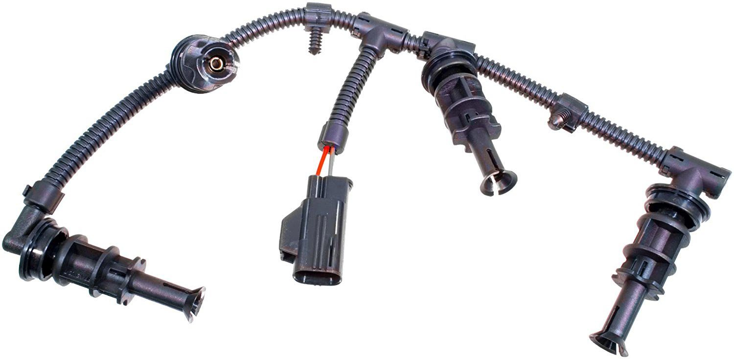 Replaces 8C3Z-12A690-AA, 8C3Z12A690AA, 1876283C1 APDTY 015523 Glow Plug Wire Wiring Harness Fits 2008-2010 Ford 6.4L Diesel Left Driver-Side