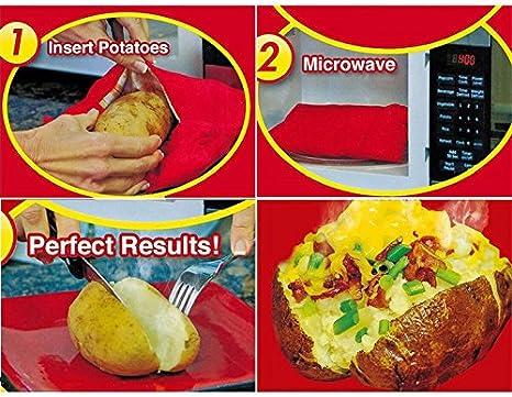 ONEVER Microondas Reutilizable Patata Cocina de la Patata Bolsa ...