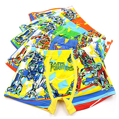 2-8 Years Boy's Character Transformers Print Underwear Cool Shorty Boxer Briefs 5 Pack - Infant Baby Boys Shorty Pajamas