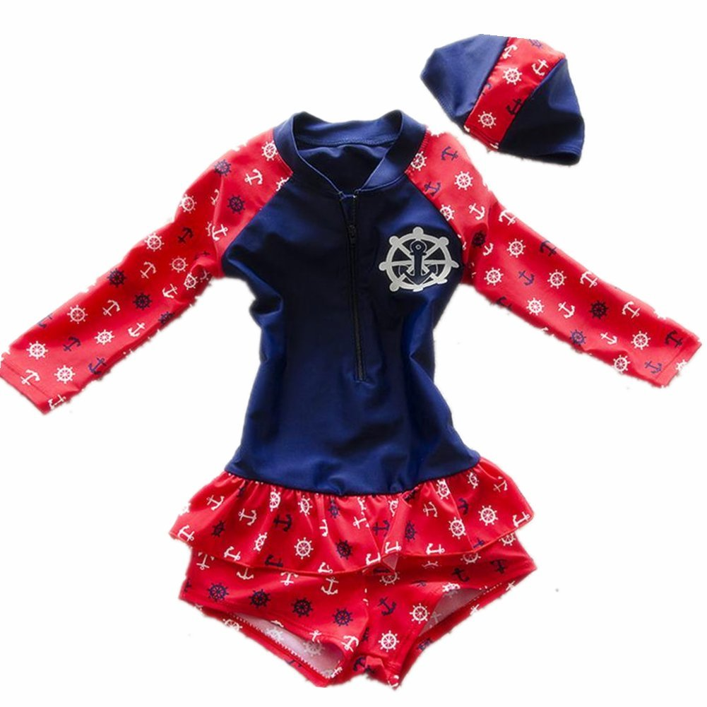 ZYZF Kids Girls Tankini Bikini Swimwear Swimming Swimsuit Rash Guard UPF 50+ UV 20160404018
