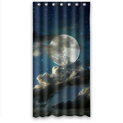 RELAX Moon Star Cloud Night Scenery Waterproof Shower Curtain 36quotw