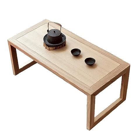 Amazon.com: Mesa de café japonesa Tatami pequeña mesa simple ...