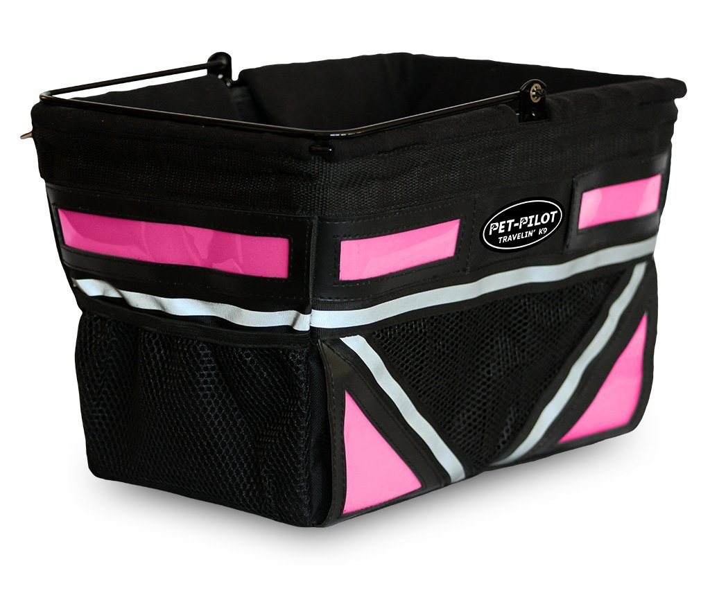 2018 Pet Pilot Dog Bicycle Basket | Pick your color (Neon Pink)