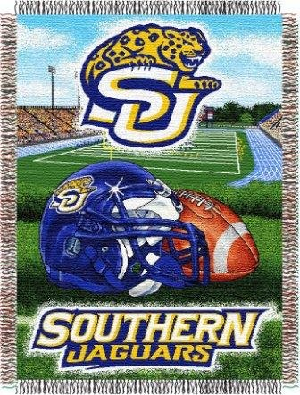 NCAA Southern Jaguars Home Field Advantage Woven Tapestry Throw, 48