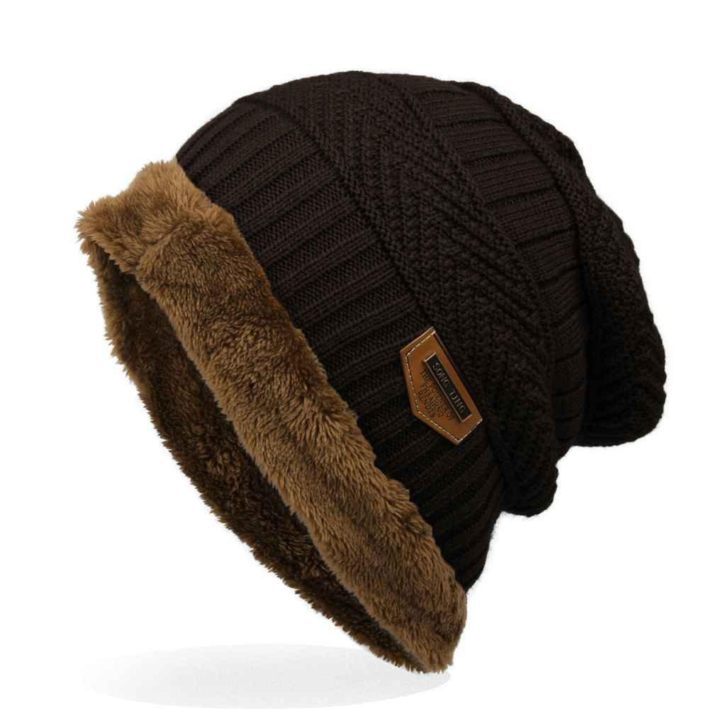 Republe Commerce ext/érieur /étiquetage Bonnet tricot/é Bonnet de Laine Velours Bonnet de Ski ext/érieur dhiver