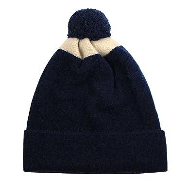 dab7367ee1208 Jo Gordon Men s Wool Knit Slouch Pom-Pom Color-Block Beanie Hat ...
