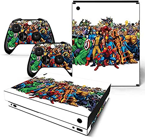 FriendlyTomato Xbox One X Consola y mando inalámbrico Skin Set – Super Hero – XboxOne X XOX calcomanía de vinilo: Amazon.es: Videojuegos