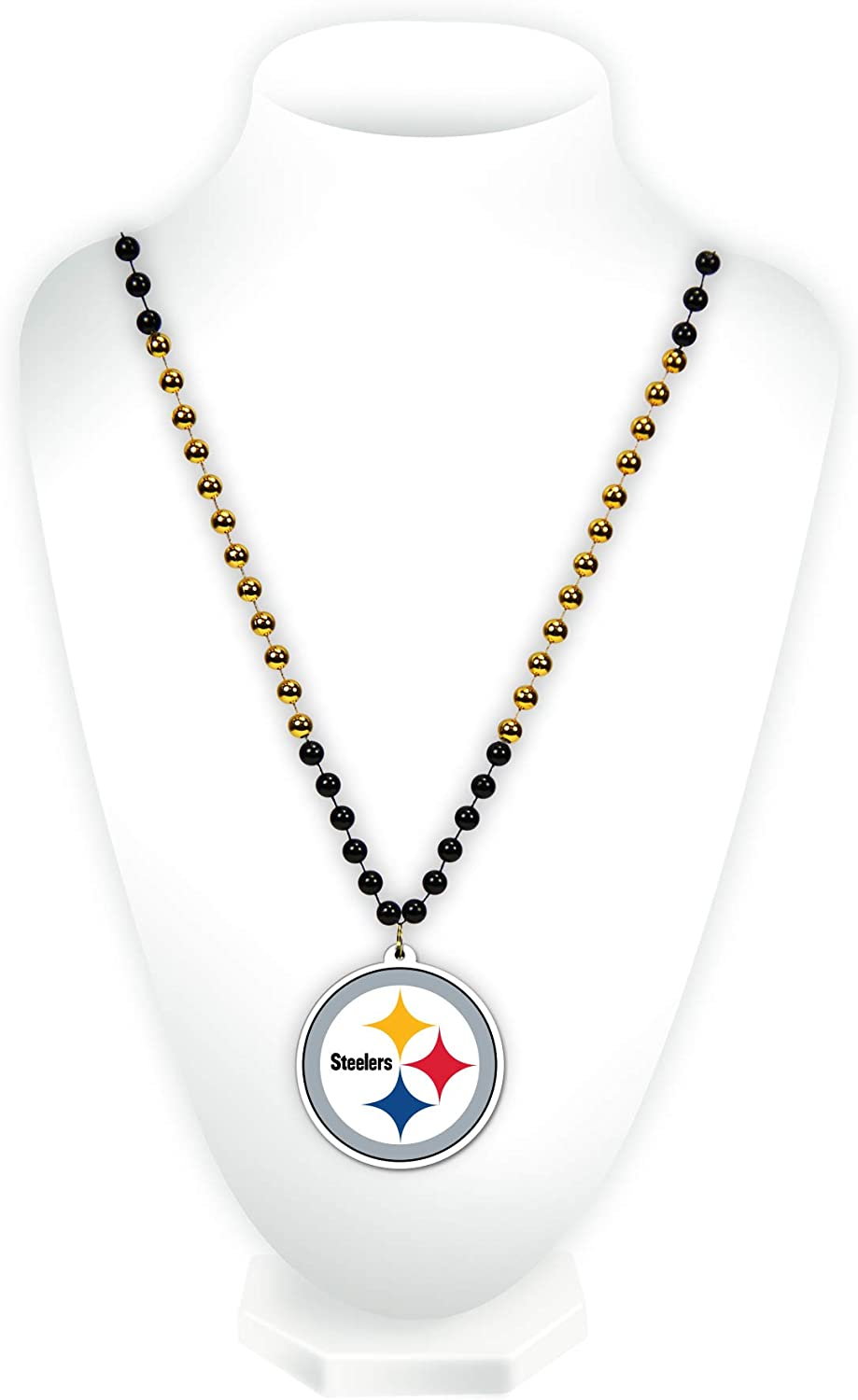 Pittsburgh Steelers NFL Rico Industries  Team Logo Mardi Gras Style Beads