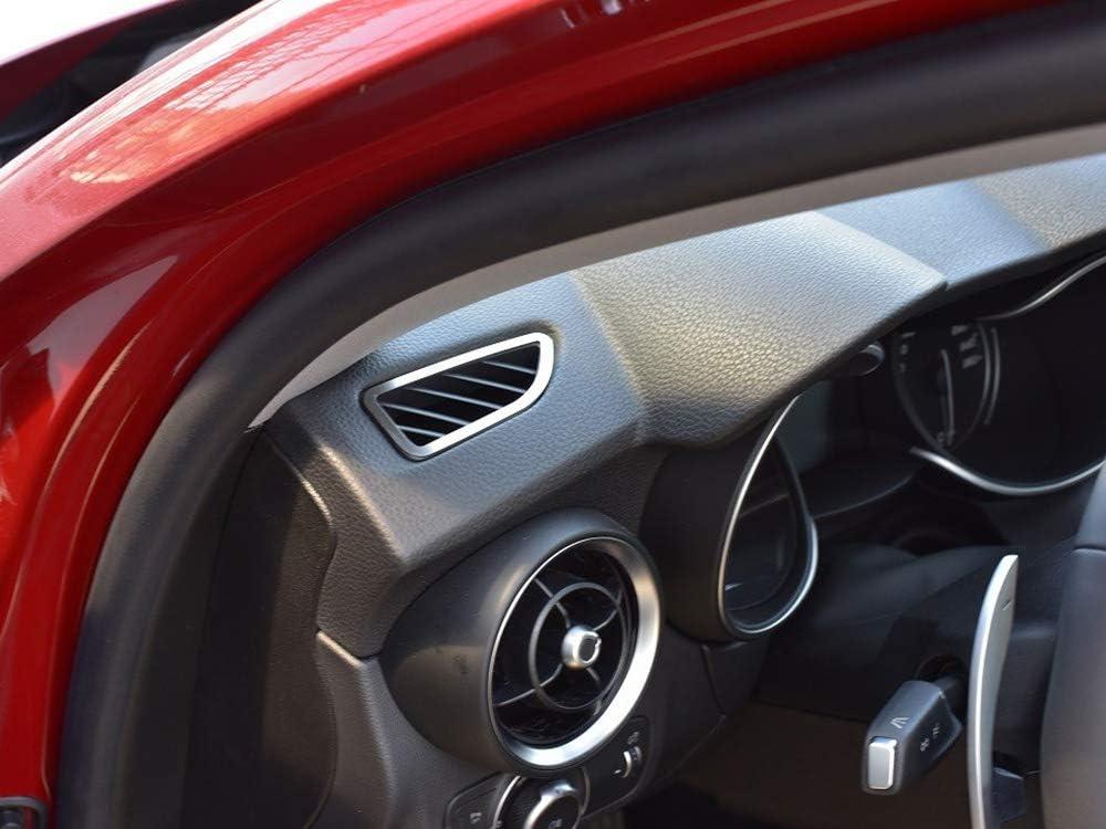 Cubierta De Acero para Alfa_Romeo STELVIO - 2 Piezas Marco Aireadores Inox Metal Cepillado Interior Personalizados Hechos a Medida Tuning