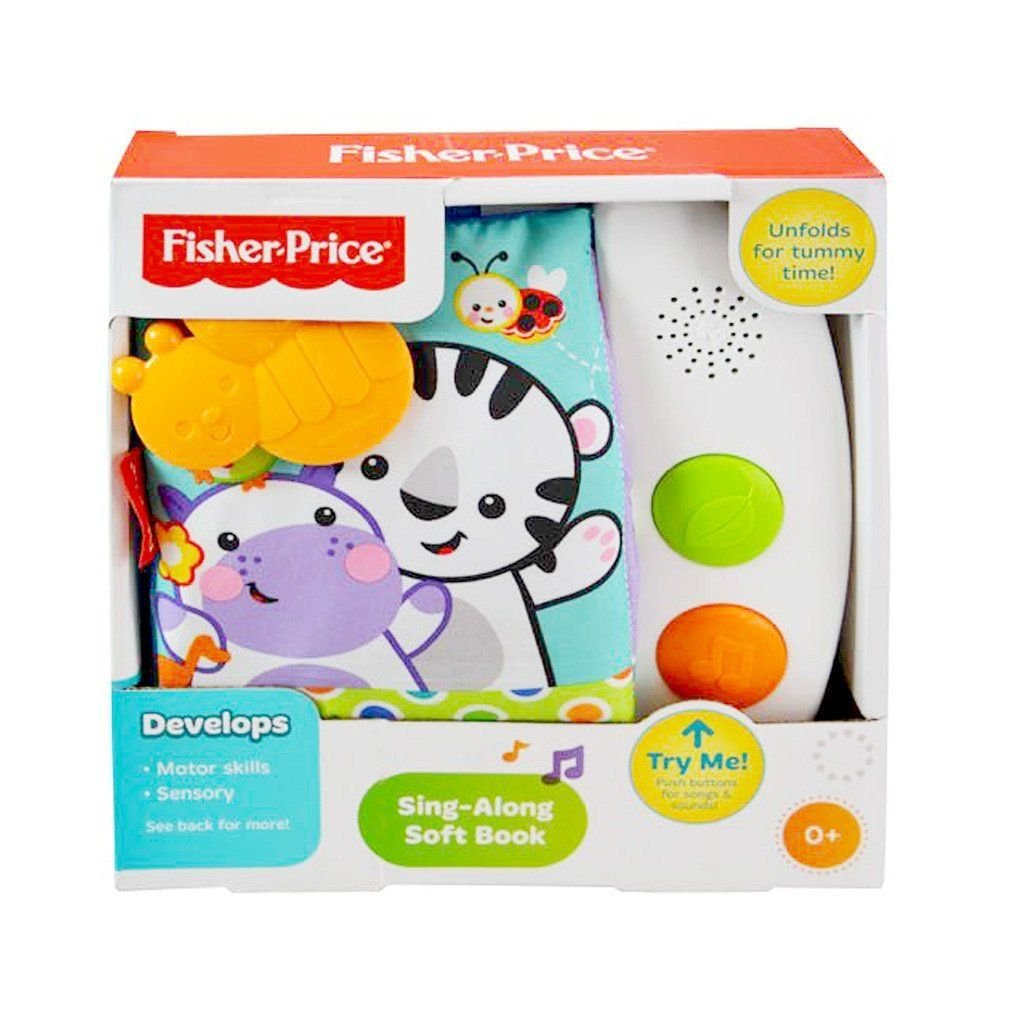 Fisher Price - Sing-Along Soft Book with Sounds for Baby Education by Classykidzshop