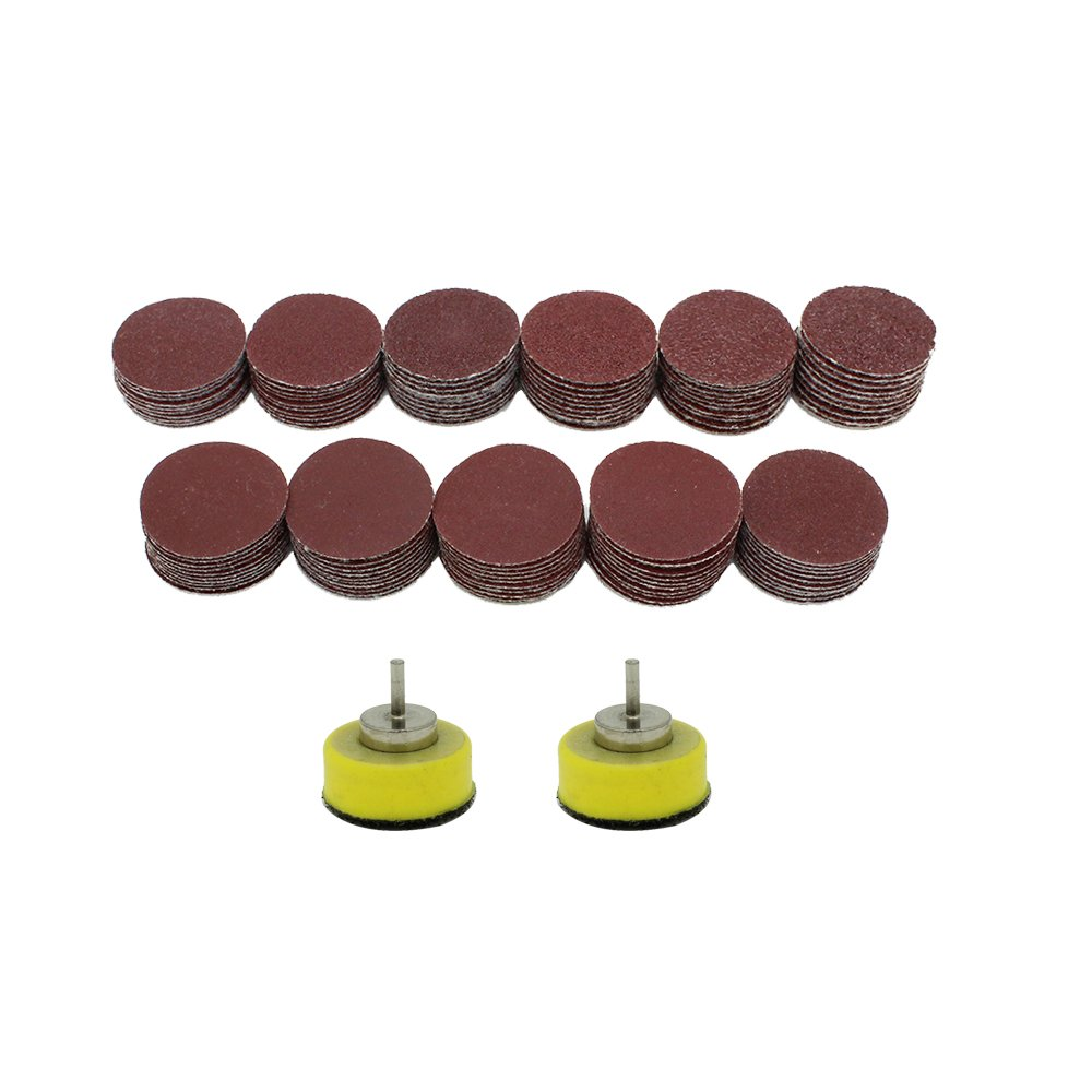 AUTOTOOLHOME 110pcs 1' 40-600Grit Sander Abrasive Paper Sanding Disc with 2ps 3mm Shank Polishing Pad JYC International Trade Co. Ltd.