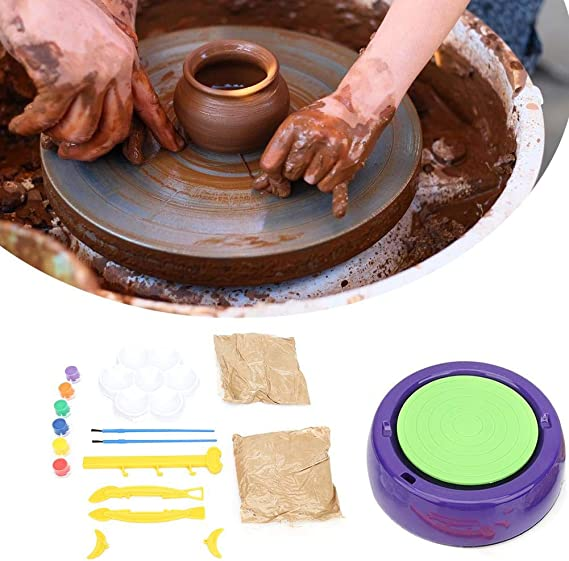 Pottery Wheel 2000rpm Electric Pottery Wheel Machine Ceramic Work Clay Art Pottery Machine Spin Art Kids Pottery Wheel Clay Wheel Sculpey Clay Tools with Clay Ceramic Craft Tools/ US