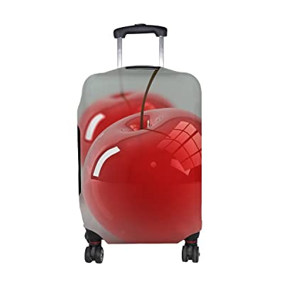 Cherry Berry 3d Pattern Print Travel Luggage Protector Baggage Suitcase Cover Fits 18-21 Inch Luggage