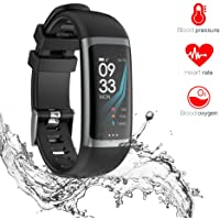 Omngin Fitness Tracker Waterproof - Activity Tracker Watch with Heart Rate Monitor, Blood Pressure Monitor, Blood Oxygen Monitor, Sleep Monitor, Step Counter, Calorie Counter for Kids Women and Men