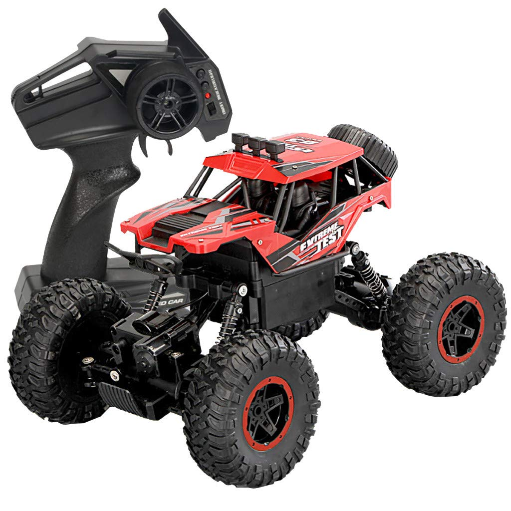 2.4GHz Wireless Remote Control Climbing Car Off Road High Speed RC Car Tracks 4WD RC Car 1/14 Scale RC Rock Crawler Off-Road Vehicle Toy Climbing Buggy Electric Climbing Car for Kids and Adults