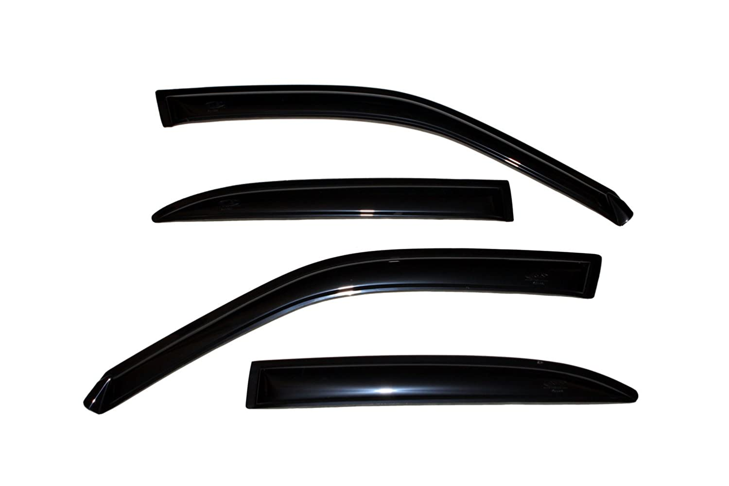 4-Piece Set for 1998-2002 Mazda 626 Auto Ventshade 94145 Original Ventvisor Side Window Deflector Dark Smoke