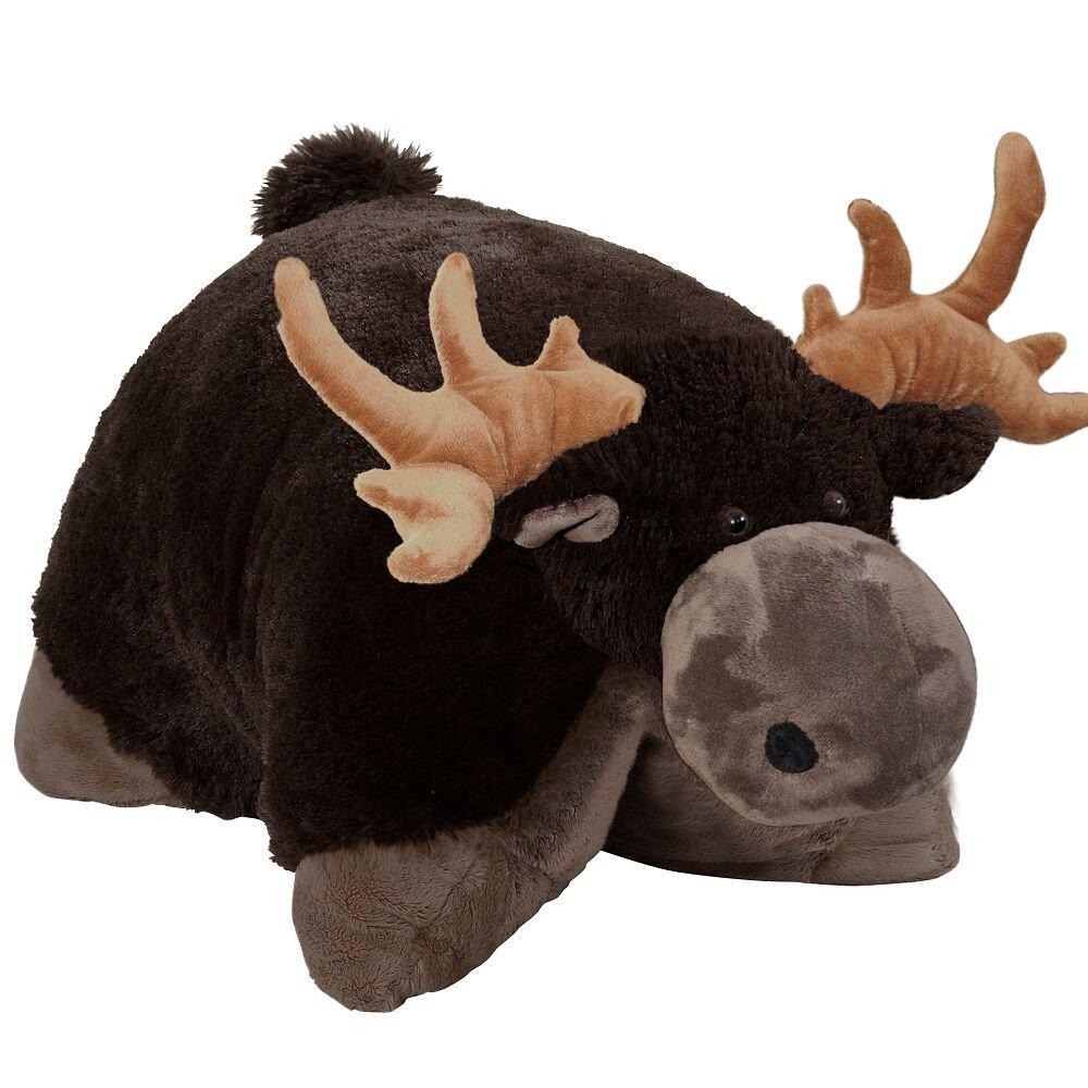 Amazon Com Pillow Pets Wild Moose Stuffed Animal Plush Toy 18 Toys