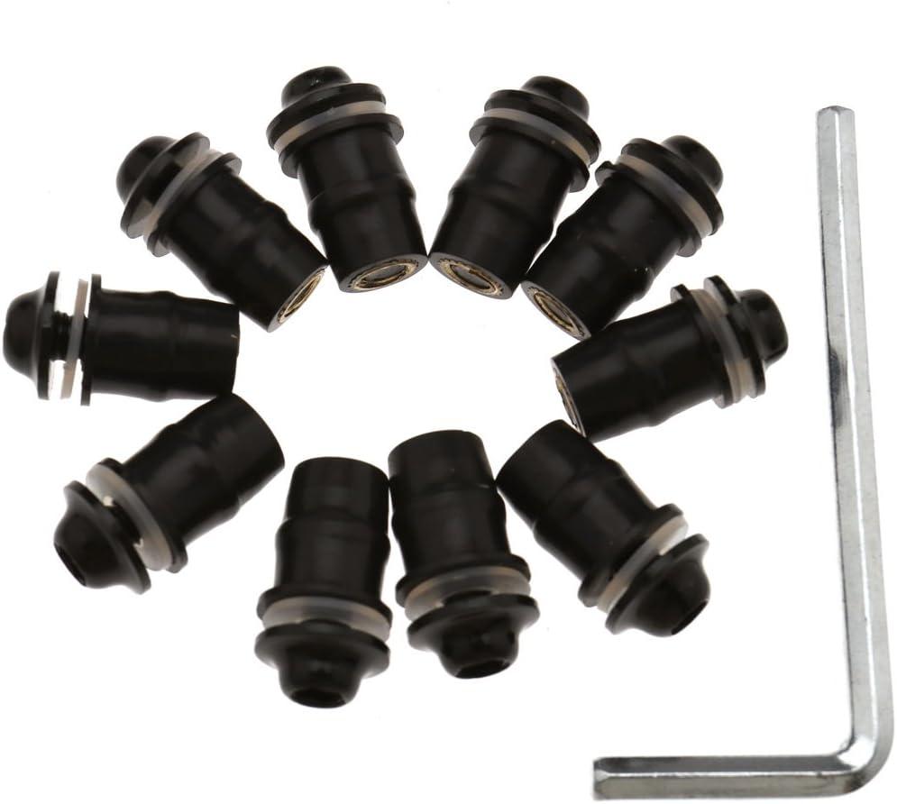 10x M5 16mm Verkleidungs-Schrauben Gummimutter Schraubendreher Blau