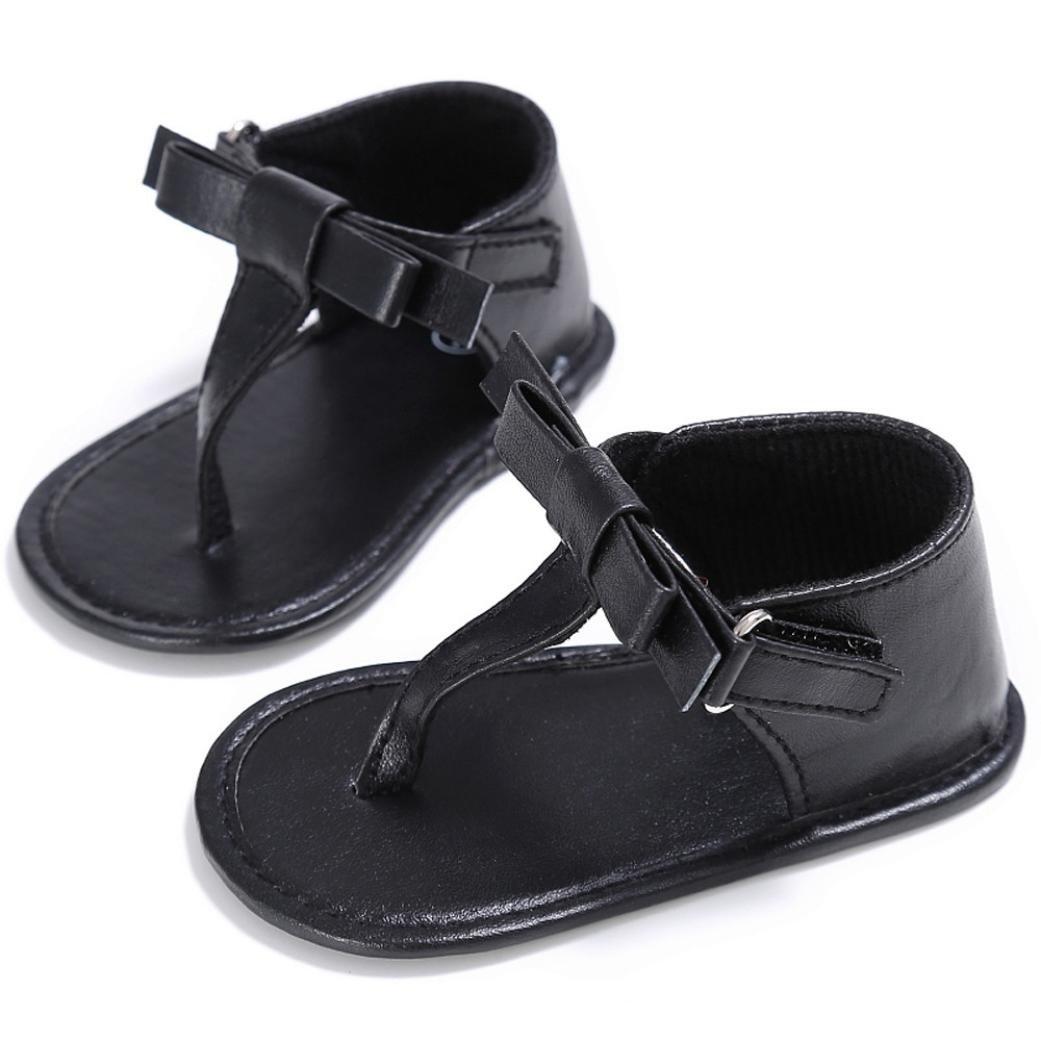 Vovotrade Primer Paso Chanclas Niñito Bebé Niña Cuna Zapatos Recién Nacido Flor Suela Blanda Antideslizante Zapatillas Sandalias