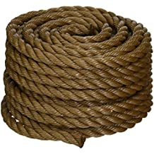 Koch 5011635 Twisted Polypropylene Rope,  1/2 by 50 Feet, Brown