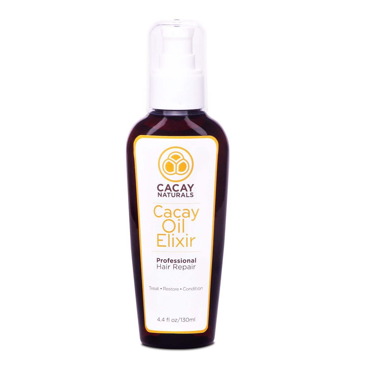 Cacay Naturals - Cacay Oil Elixir - Best Hair Repair with Cacay Oil. Treat, Condition and Restore, 4.4 fl.oz (130 ml)