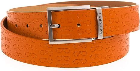 KAZARTT - FOCUS - Cinturón de piel con estampados gafas - Hecho a ...