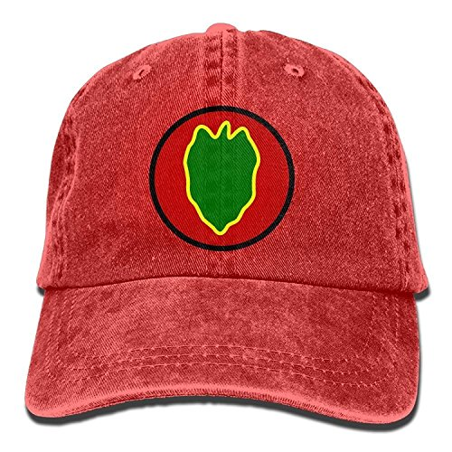 Price comparison product image Basball Hat 24th Infantry Division United States Washed Retro Adjustable Jeans Caps Peaked Cap for Women and Men