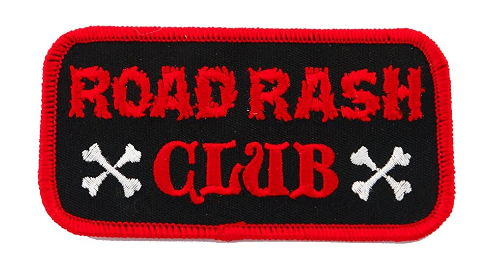 Road Rash Club Patch刺繍アイロンオートバイバイカーエンブレム   B00248AY48