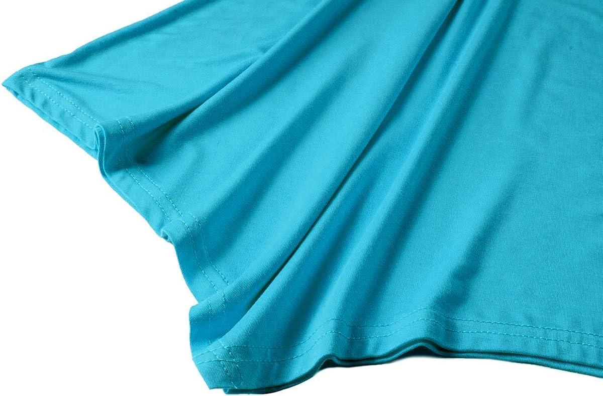 LARACE Women V-Neck Tank Top Tunic for Leggings(M Lake Blue)