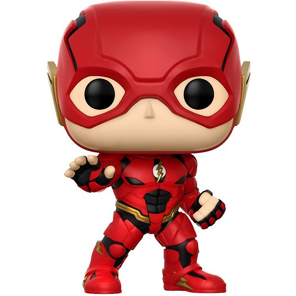 #208 // 13488 - B The Flash: Justice League x Funko POP Heroes Vinyl Figure /& 1 PET Plastic Graphical Protector Bundle BCC9408Z1