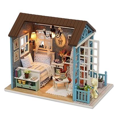 Buy Karp Wood Forest Time Series Wooden Handmade Dollhouse Miniature