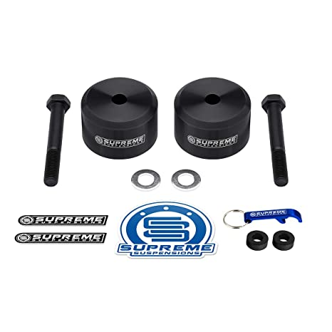 Supreme Suspensions - Front Leveling Kit for Ford F250 F350 2 Inch Front  Lift Coil Spring Spacers 4WD (Black)