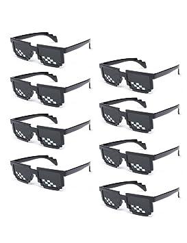 1d314a448a Onnea 8 Piezas Mosaico Gafas de Sol de Fiesta para Mujer Hombre Thug Life  Pixelated (Paquete de 8 Cuadrado): Amazon.es: Juguetes y juegos