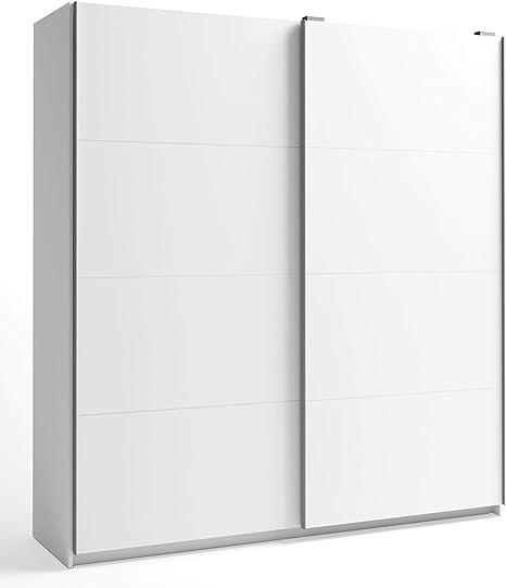 Miroytengo Armario Gran Savona 2 Puertas correderas Color Blanco habitación Dormitorio Matrimonio 216x202x56 cm…: Amazon.es: Hogar