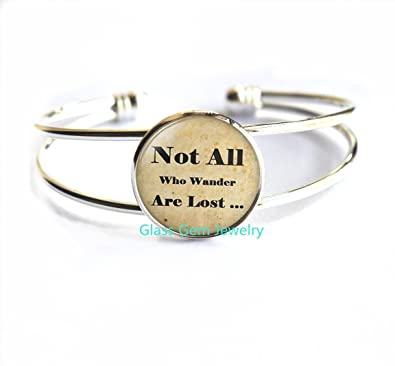Not All Those Who Wander Are Lost Pendant Silver Necklace New in Gift Bag