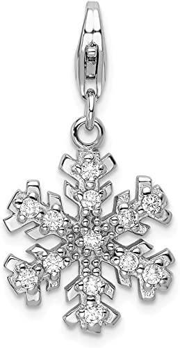 Snowflake Lobster Clasp Christmas Necklace Or Key Chain Add On