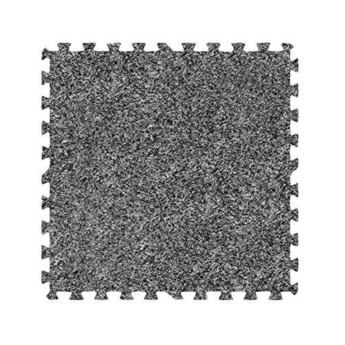Alessco EVA Foam Rubber Interlocking Premium Soft Carpets 10' x 10' Set Light Grey