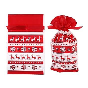 Amazon.com: Paquete de 10 bolsas de plástico con cordón para ...
