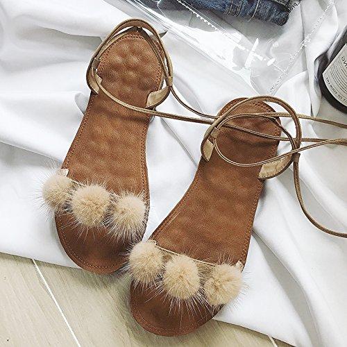 ITTXTTI Sandalias Sandalias de Las Mujeres Sandalias Sandalias de Las Mujeres de Verano Nuevo Desgaste Plano Fuera de la Playa de Vacaciones de Playa Zapatos Súper Lindos Zapatos!! B