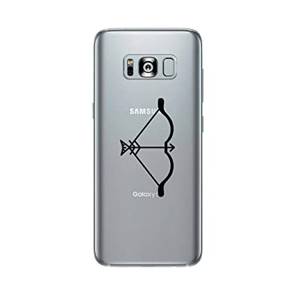 34f8806558a0e Image Unavailable. Image not available for. Color  365 Printing Bow And  Arrow Cute Galaxy S8 Matching Couples Clear Phone Case Gift