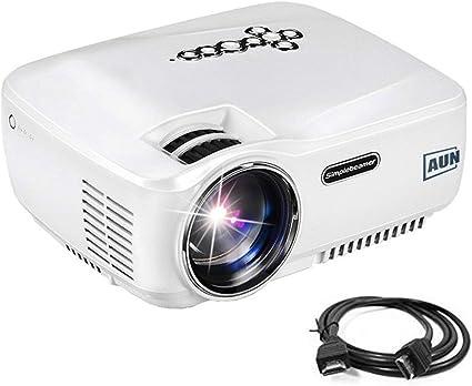 AUN 1400 lúmenes 800*480 Resolución LED Proyector MINI Proyector ...