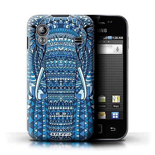 Stuff4 Hülle / Hülle für Samsung Galaxy Ace / Elefant-Blau Muster / Aztec Tier Muster Kollektion