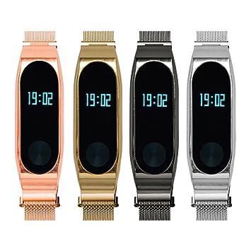 Zolimx Pulsera Xiaomi Mi Band 2 Reloj Correa Acero ...