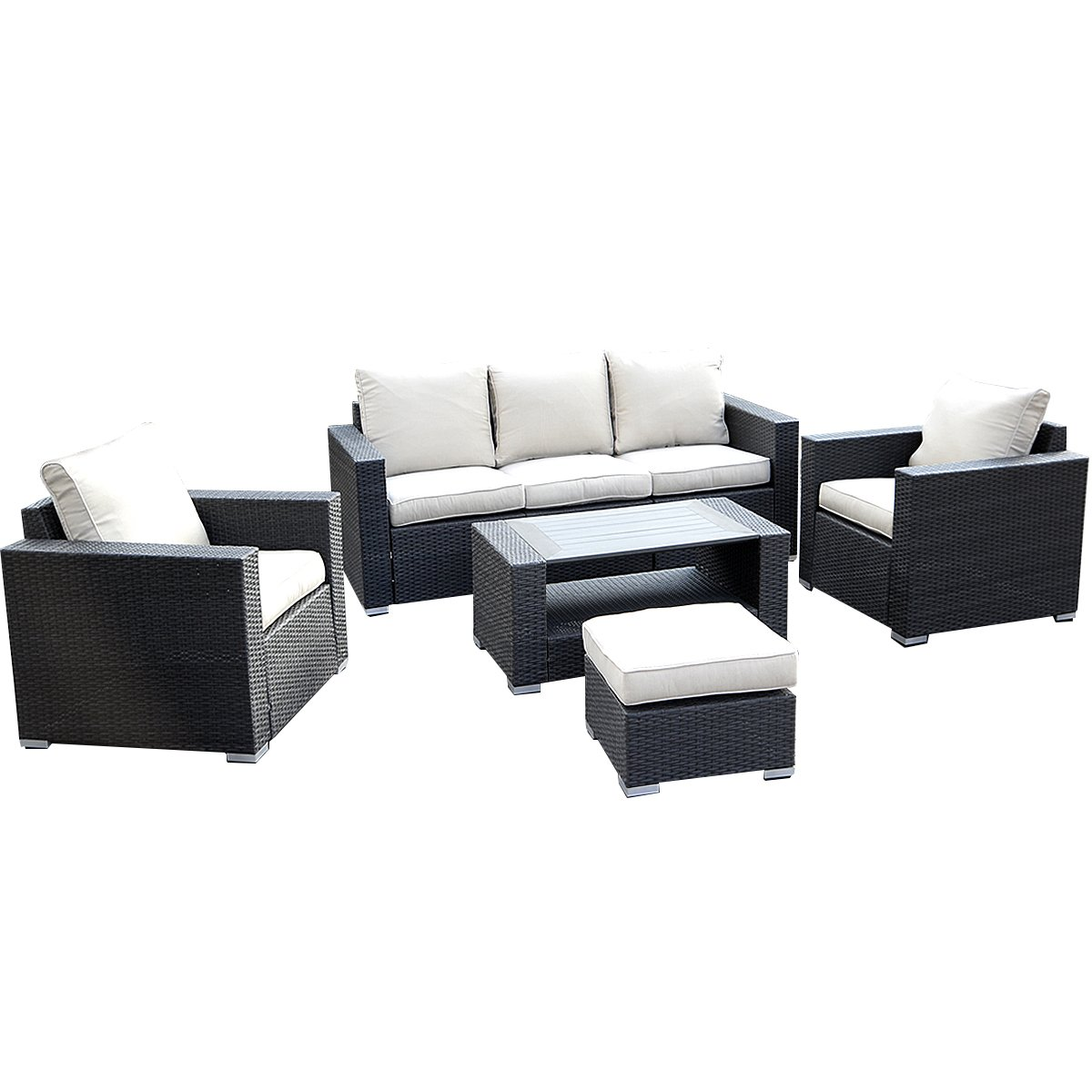 Amazon.de: 17tlg. Lounge Set Gartenmöbel Loungemöbel Polyratten ...