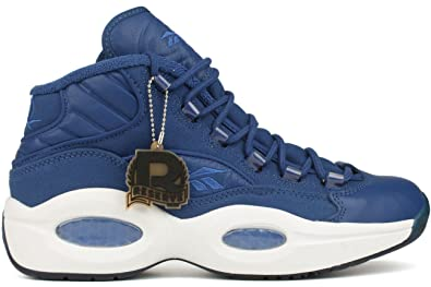 0ec7da9c69d3 Reebok Question Mid Mens in Dark Royal White (Canvas Pack)