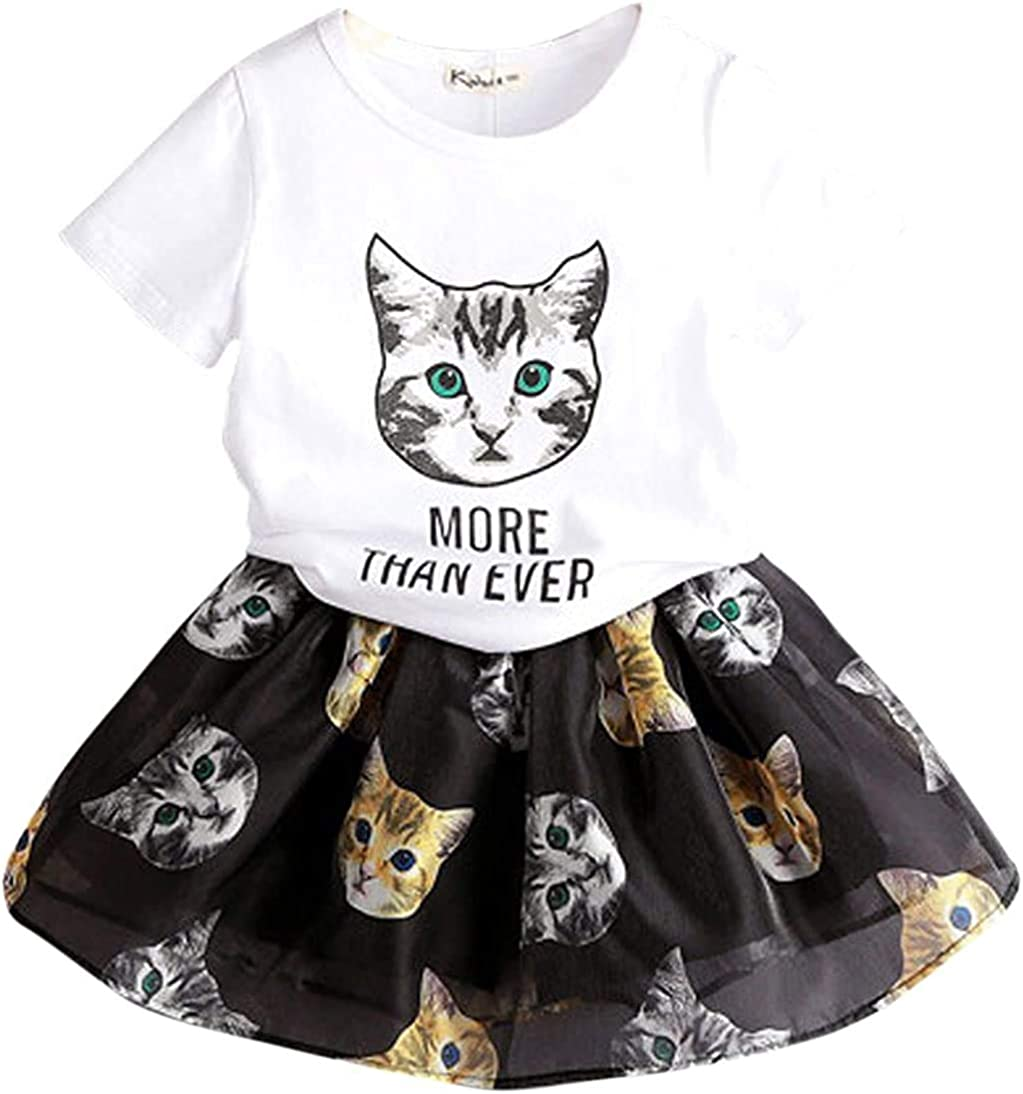 Sunshine Cat Childrens Comfortable and Lovely T Shirt Suitable for Both Boys and Girls