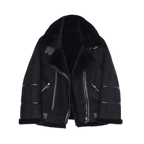 Piel de invierno-piel chaqueta gruesa hembra
