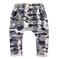 SHOBDW Boys Trousers, Toddler Kids Cool Camouflage Print Baby Girls Boys Harem Pants