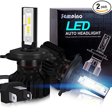 LED Headlight Bulbs - Sampino H4 (Hi/Lo) Headlights All-in-